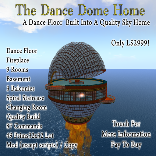 The Dance Dome - A product I sell in-world